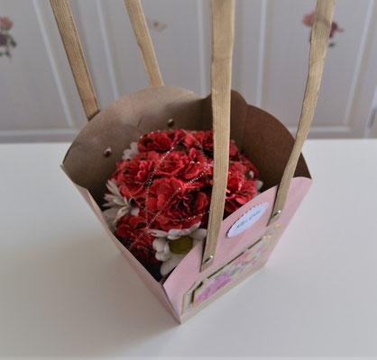 Pflanzen-Tasche groß in rosa