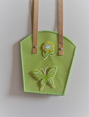 Pflanzen-Tasche groß hellgrün