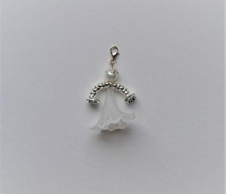 Perlenengel/Engelanhänger weiß-matt