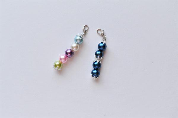 Perlenanhänger/Schlüsselanhänger/Taschenanhänger blau