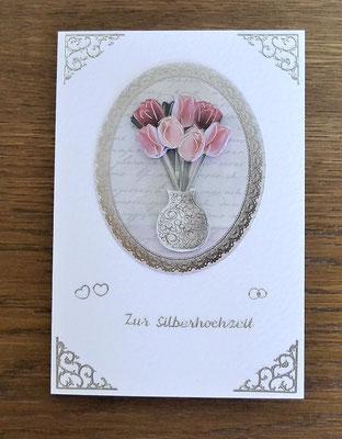 Hochzeitskarte Silberhochzeit