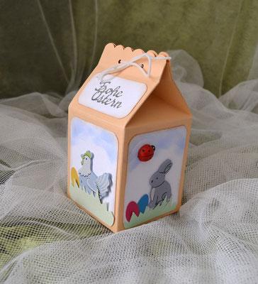 Handgefertigte Geschenkverpackung für Ostern