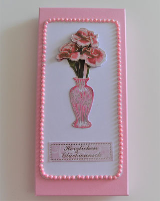 "Geschenkschachtel rosa ""Herzliche Glückwünsche"""
