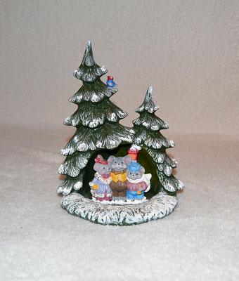 Tannenbaum mit singenden Mäusen und kleinem Vogel (2)