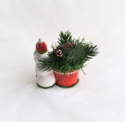 """Kleines Weihnachtsgesteck """"3 Schneemänner"""""""