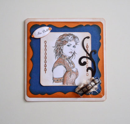 Steampunkkarte 15 x 15 cm