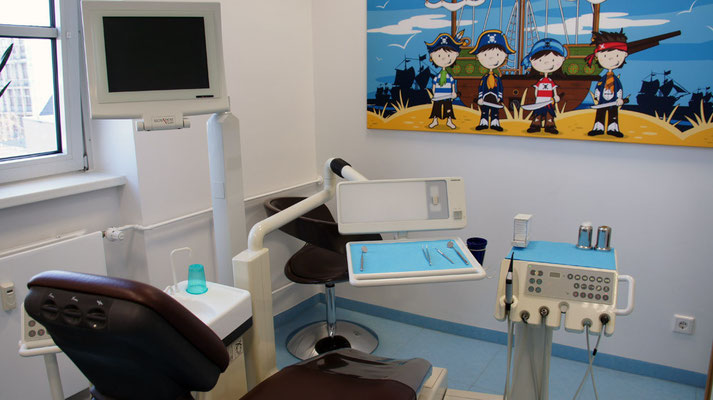 Kinderbehandlungszimmer Zahnarzt Essen - Praxis Dr.Koravi
