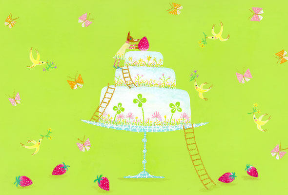 SPRING  DECORATION  CAKE