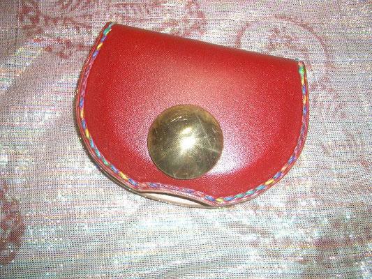 赤染色 グラデーション糸 37mm大経ハイドーム(約10mm) ブラスコンチョ