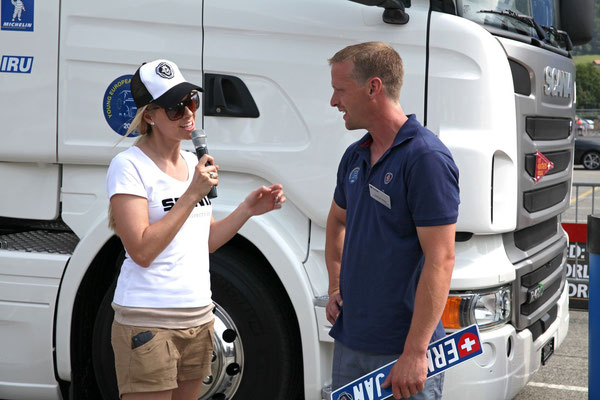 Young Europen Truck Driver Switzerland SCANIA