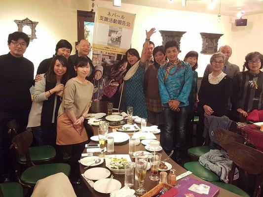 最終日 大阪桃谷報告会 シュレスタに集まってくれたお客さんと