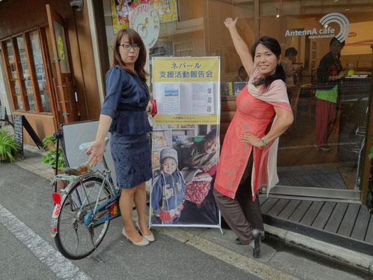 京都会場 丸太町アンテナカフェで参加してくれたお客さんと