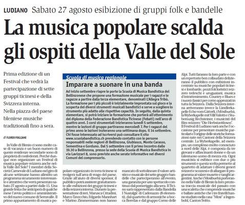 Giornale del Popolo - 23 agosto 2011