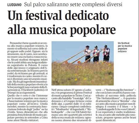 Giornale del Popolo - 16 agosto 2011