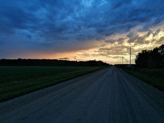 The Prairie sky near Winnipeg