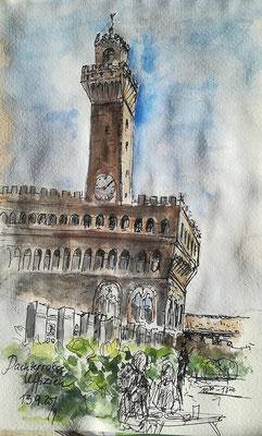 Auf der Dachterrasse in den Uffizien in Florenz