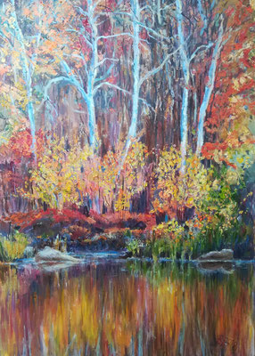 Herbstglühen, Öl auf Leinwand 50 x 70 cm