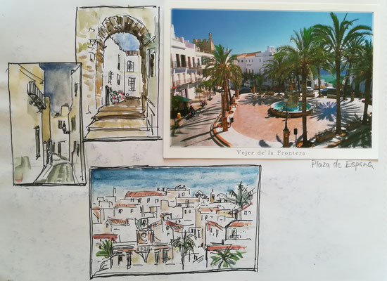 Aus dem Skizzenbuch , Andalusien