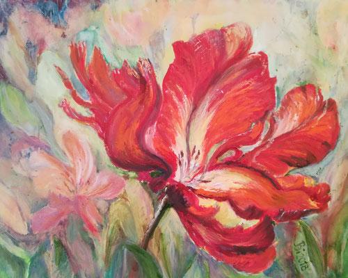 Tulpen,  Öl, 40 x 50 cm
