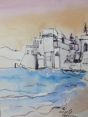 Essouira,  Studie, Aquarell, 17 x 23 cm