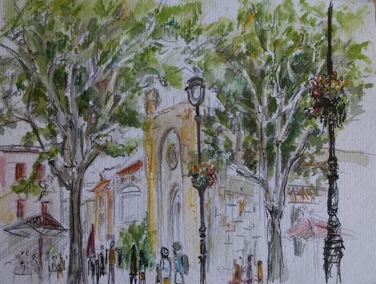 Aigues Mortes , an der Kathedrale