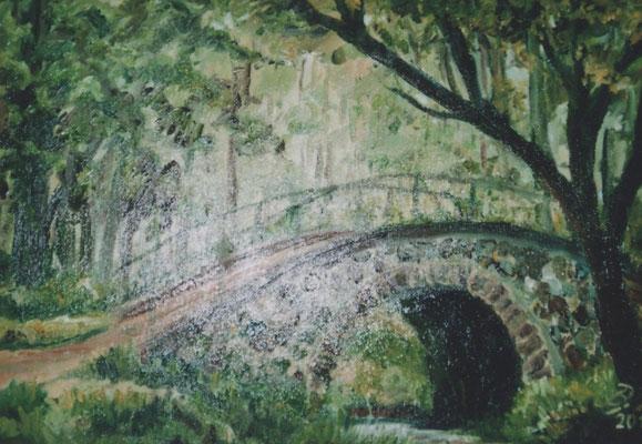 Brücke in Steinhöfel - Öl - 50x70