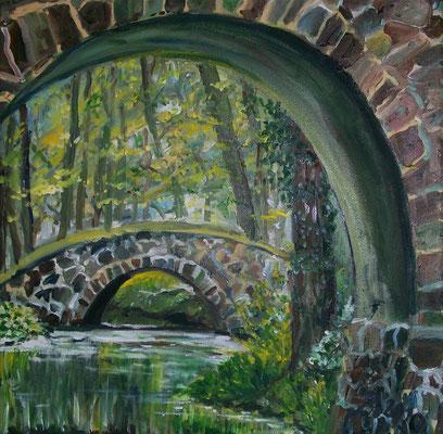 Brücke in Steinhöfel - Öl - 2010 - 40x40
