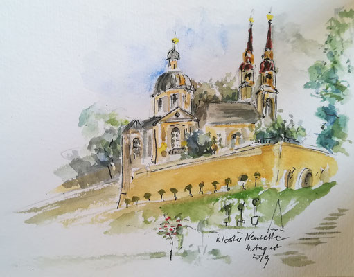Im Klostergarten von Neuzelle