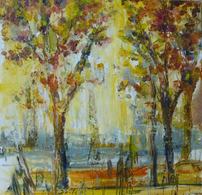 Hebst, Öl auf leinwand, 40 x 40 cm