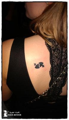 Airbrush-Tattoos als Highlight für euer Fest.