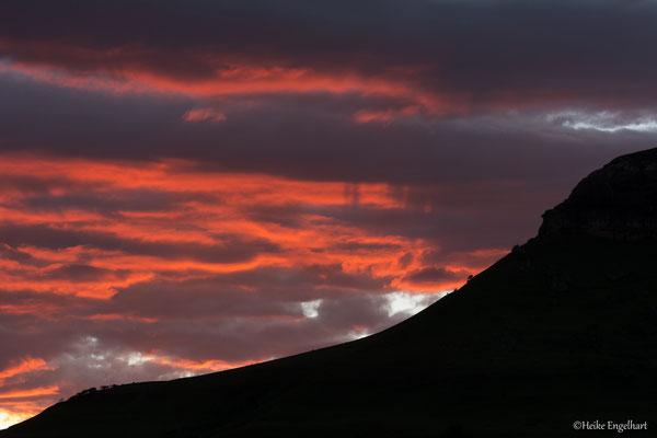Sonnenaufgang in den Drakensbergen.
