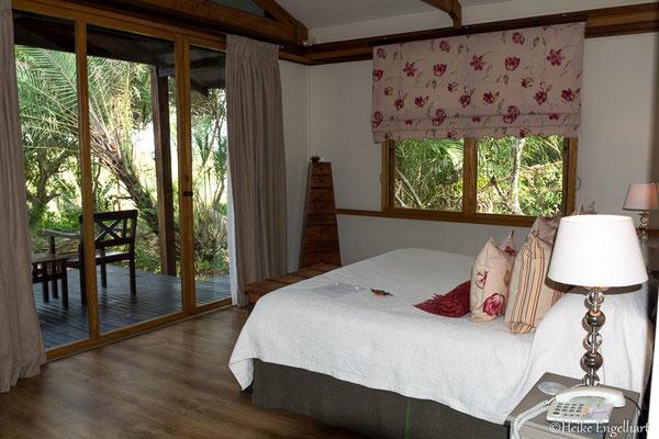 Mein wunderschönes Zimmer in der Makatana Bay Lodge.