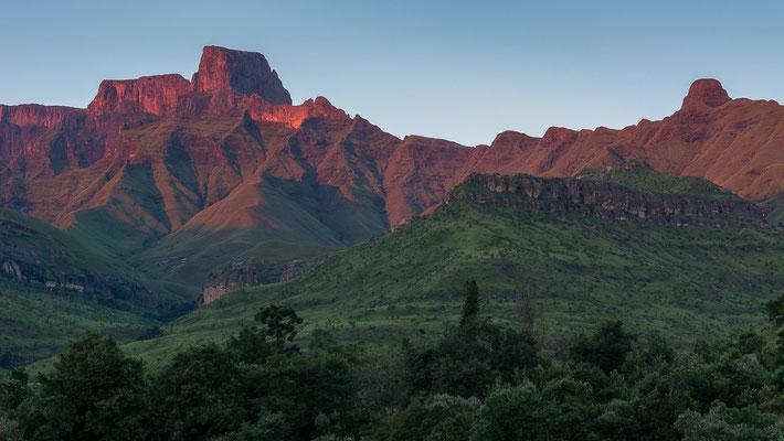 Ein sehr schöner Sonnenaufgang in Südafrika.