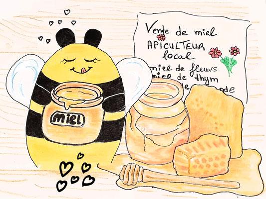 Bienchen im Honigrausch