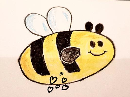 Bienchen auf großer Fahrt