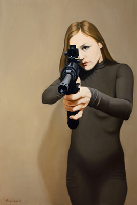 Shot, 2016, 150/100 cm, oil on canvas (private collection)
