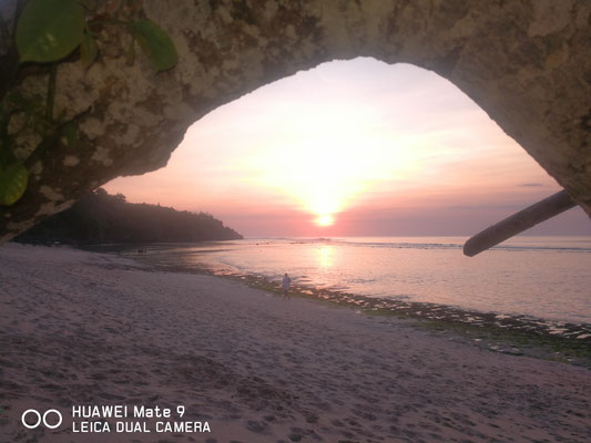 Sunset at uluwatu Beach