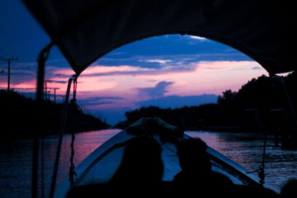 Sunset in at Bangkok Sunset River