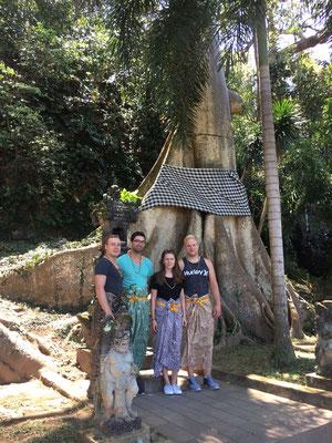 Jing Jang tree mit 4 Putzfrauen