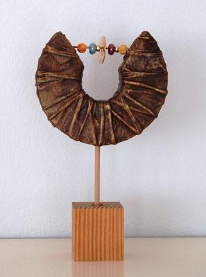 """""""Glasperlen"""", Holzsockel, Styropor, Dekorationshärter, Glasperlen, ca. 45 cm hoch"""