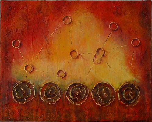 """"""" Vermählung """"  Acryl auf Leinwand 50 x 40 cm gespachtelt mit Sand aus Oostkapelle     (verkauft)"""