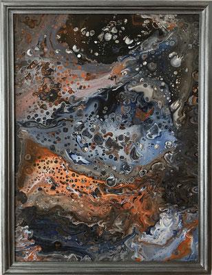"""Fluid Painting"" Acryl auf Leinwand, 50 x 70 cm plus Rahmen (im Auftrag gemalt)"