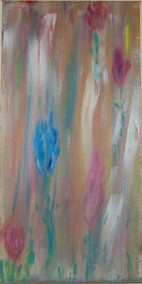 """ Flower power "" Acryl auf Leinwand 20 x 40 cm"