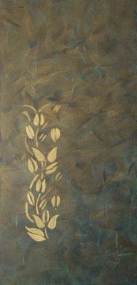 """ Ranke in gold "", Acryl auf Leinwand 40 x 80 cm    (verkauft)"