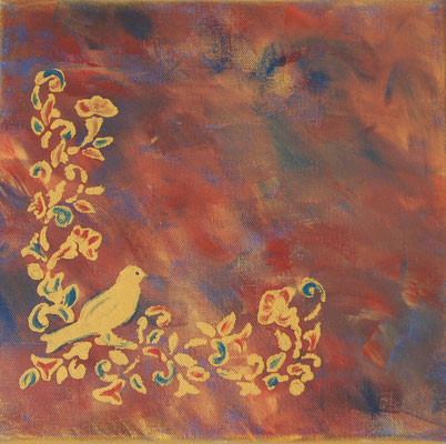 """""""Poesie"""", Acryl auf Leinwand 30 x 30 cm  (verkauft)"""