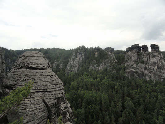 "Bastei - Blick auf ""Lokomotive"""