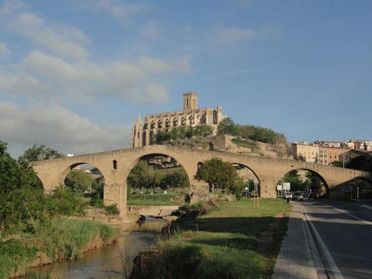 Manresa - Pont Vell und Basilika Santa Maria de la Seu