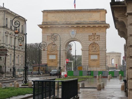 Montpellier - Triumphbogen Porte du Peyrou