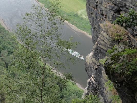 Bastei - Blick auf Elbe