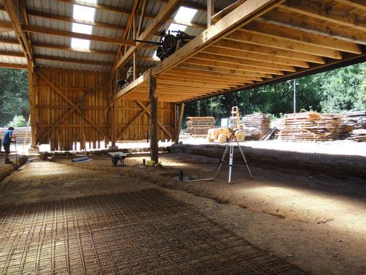 Terrassement et installation du treillis, juillet 2015